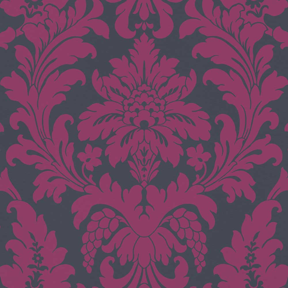 Albany Damask Pink / Blue Wallpaper - Product code: 525441