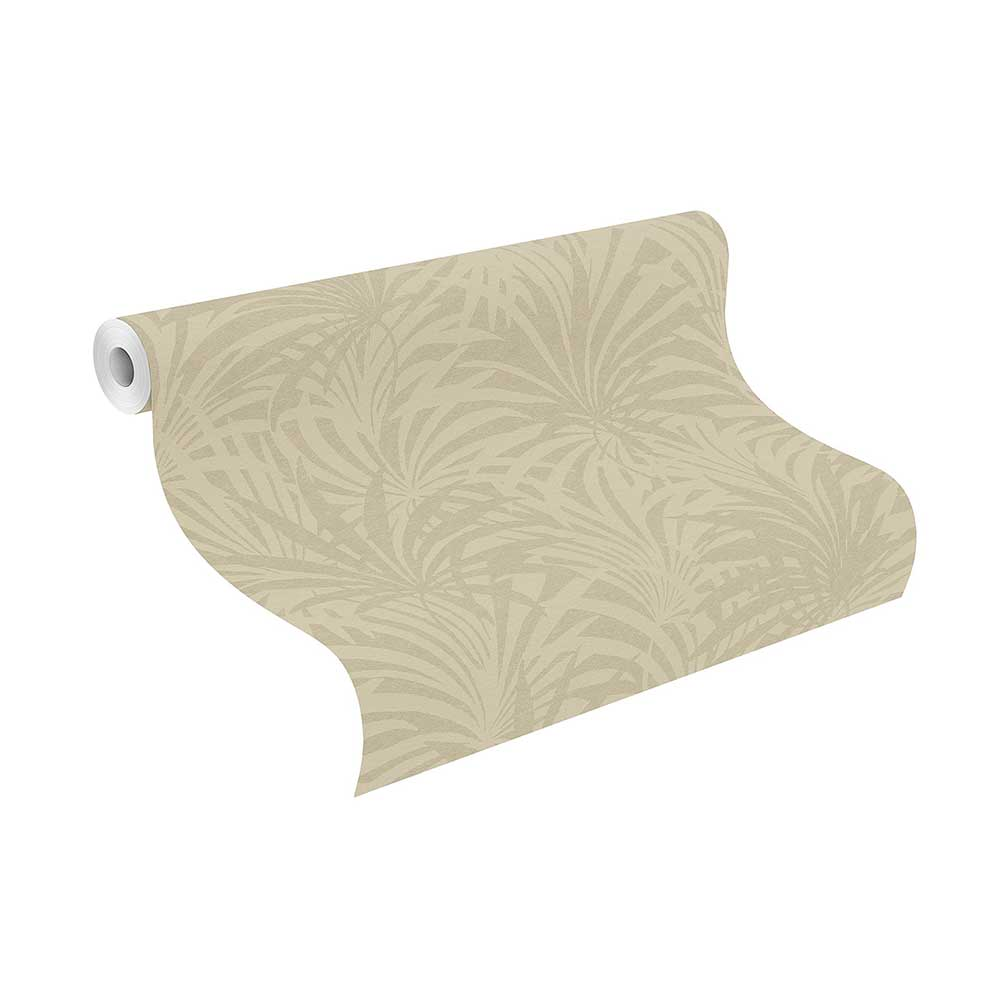 Palm Leaf Wallpaper - Beige - by Albany