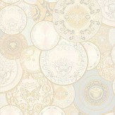Versace Decorative Plates Cream Wallpaper