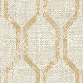 Albany Linen Small Geo Warm Beige / Gold Wallpaper - Product code: 25047