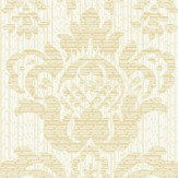Albany Broken String Damask White / Gold Wallpaper - Product code: 25058