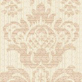 Albany Broken String Damask Cream / Copper Wallpaper - Product code: 25060