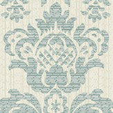 Albany Broken String Damask Cream / Teal Wallpaper - Product code: 25061