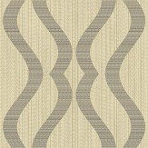 Albany Broken String Geometric Gold / Black Wallpaper