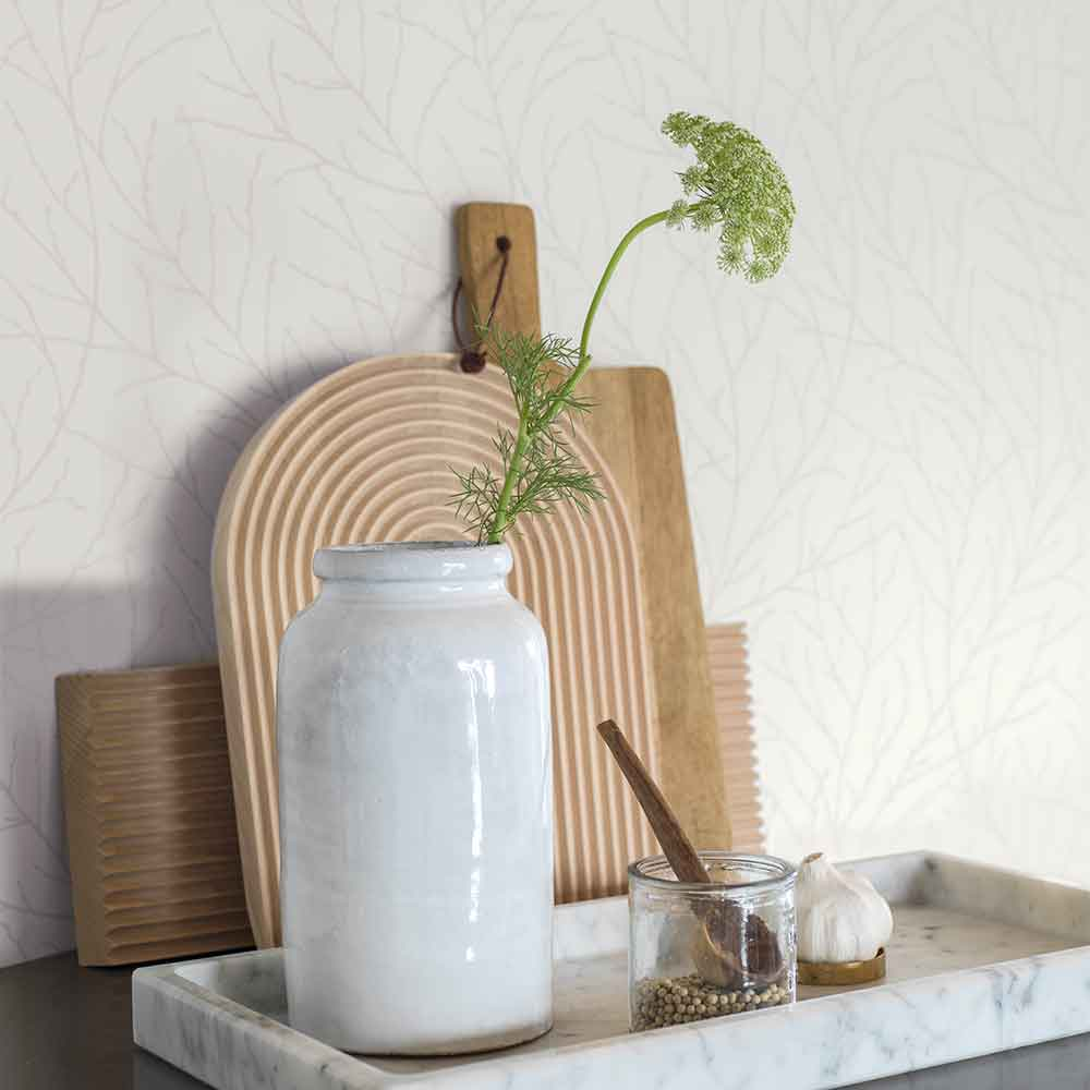 Branches Wallpaper - White - by Engblad & Co