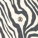 Roberto Cavalli Tiger Print Black & White Wallpaper