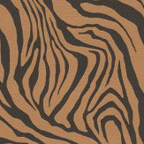 Roberto Cavalli Tiger Print Black and Bronze Wallpaper