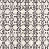 Roberto Cavalli Signature Tile Black and White Wallpaper