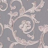 Versace Barocco Trail Silver / Grey Wallpaper
