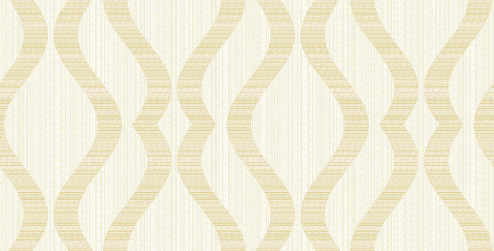 Albany Broken String Geometric White / Gold Wallpaper - Product code: 25063