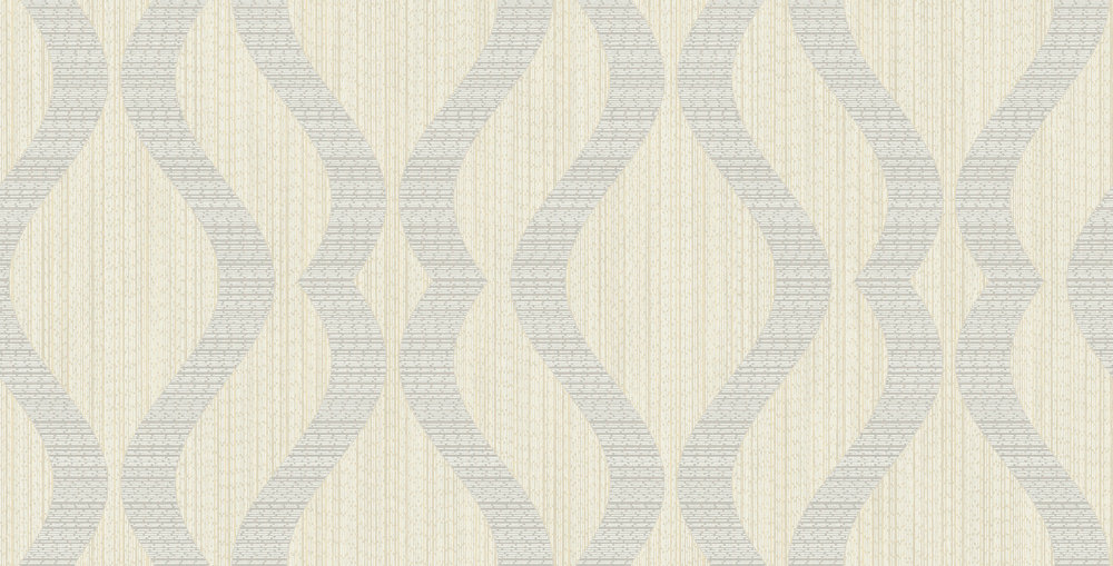 Albany Broken String Geometric Off-white / Grey Wallpaper main image