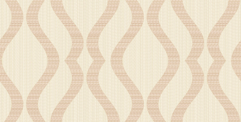 Albany Broken String Geometric Cream / Copper Wallpaper - Product code: 25065
