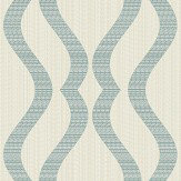 Albany Broken String Geometric Cream / Teal Wallpaper - Product code: 25066