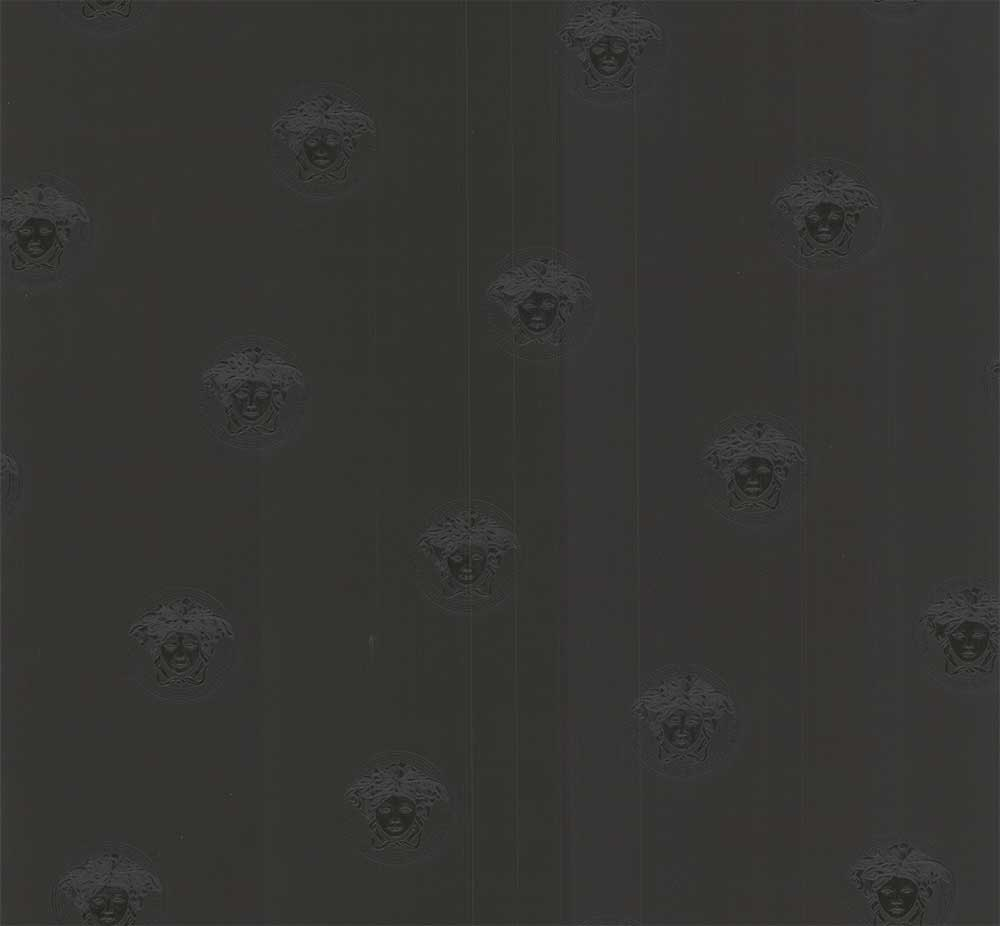 Classic Motif Wallpaper - Black - by Versace
