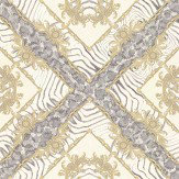 Versace Vasmara Motif  Cream / Grey Wallpaper