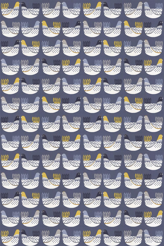 Cluck Cluck Fabric - Ochre - by iliv