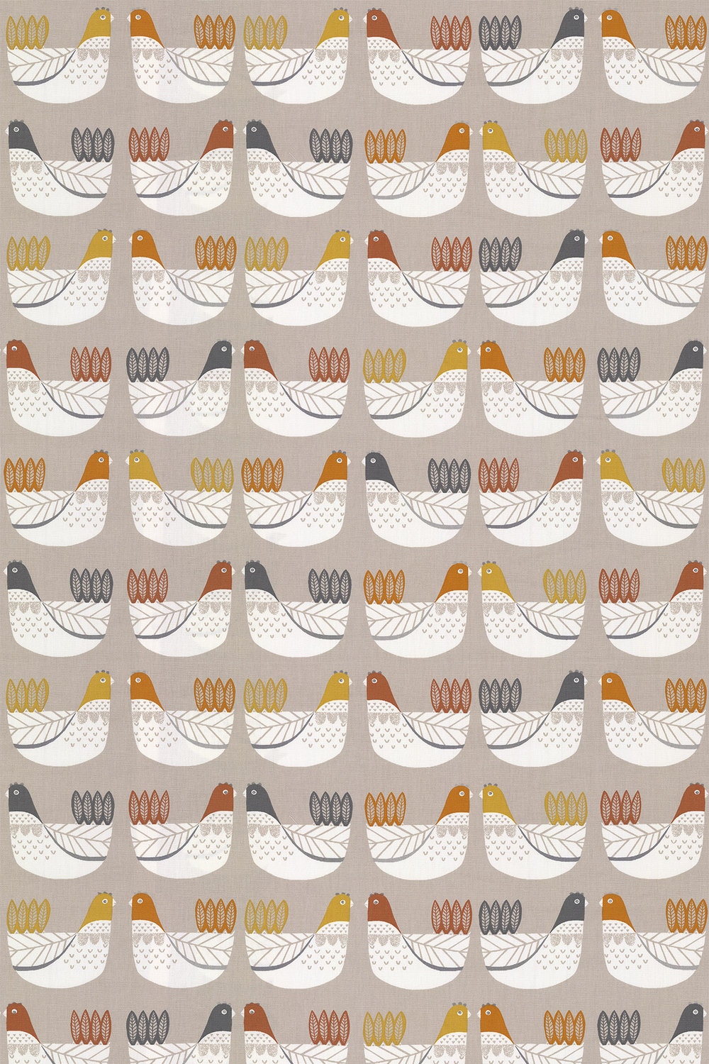 iliv Cluck Cluck Tangerine Fabric - Product code: CRAU/CLUCKTAN