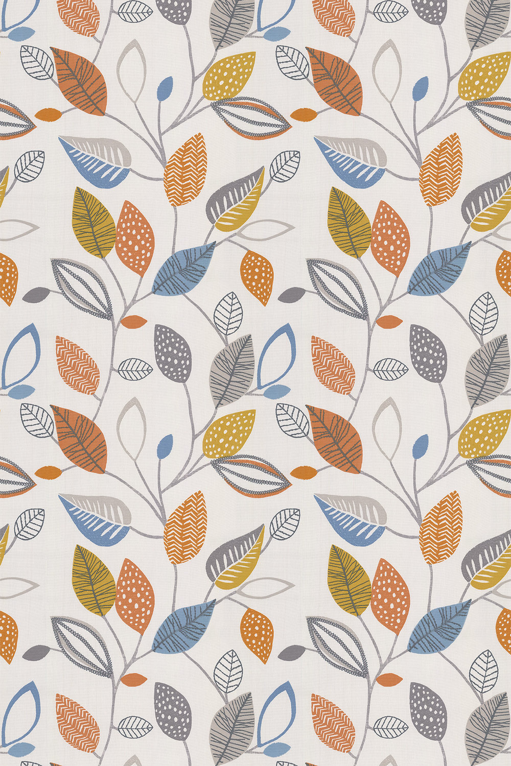 iliv Forest Leaves Tangerine Fabric - Product code: CRAU/FLOWETAN