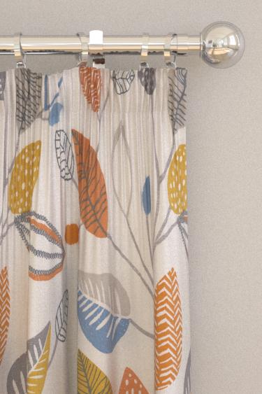 iliv Forest Leaves Tangerine Curtains - Product code: CRAU/FLOWETAN