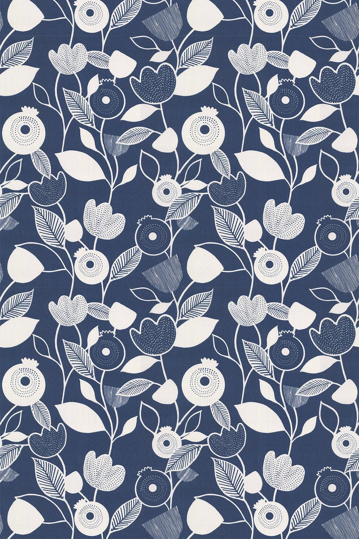 iliv Nordic Indigo Fabric - Product code: CRAU/NORDIIND