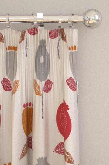 iliv Pomegranate Scarlet Curtains - Product code: CRAU/POMEGSCA