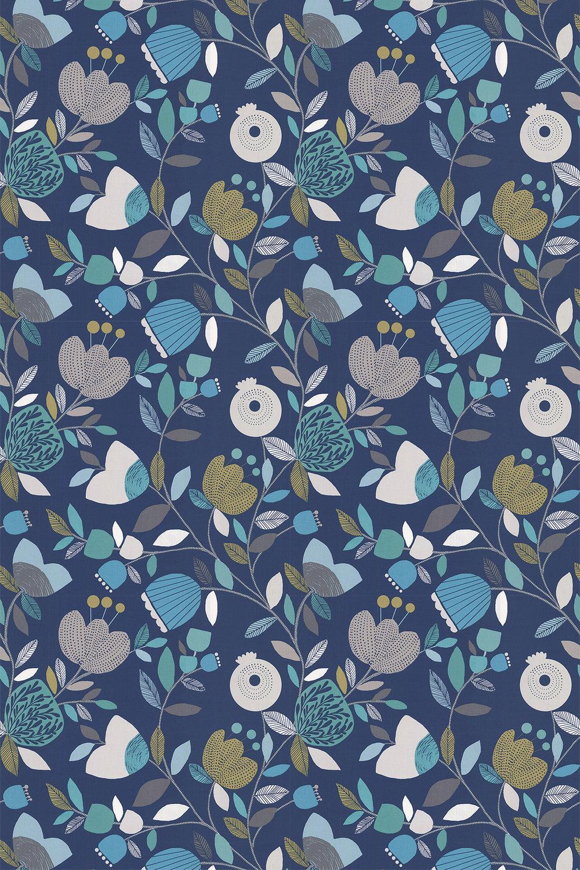Pomegranate Trail Fabric - Capri - by iliv