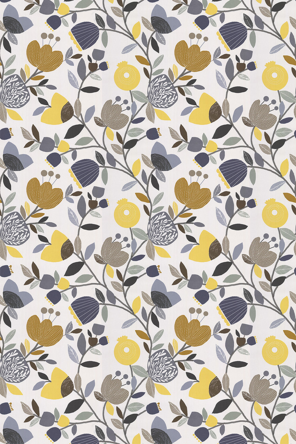 iliv Pomegranate Trail Ochre Fabric - Product code: CRAU/POMTROCH