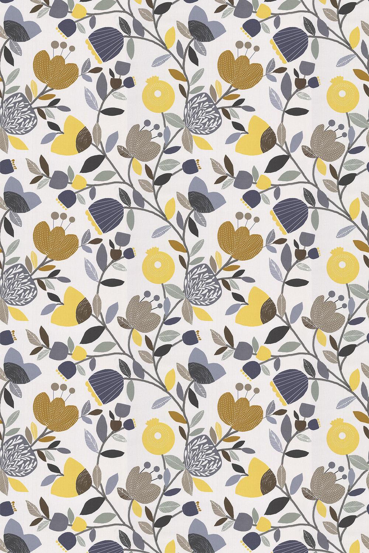 Pomegranate Trail Fabric - Ochre - by iliv