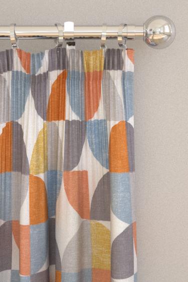 iliv Spiral Tangerine Curtains - Product code: CRAU/SPIRATAN