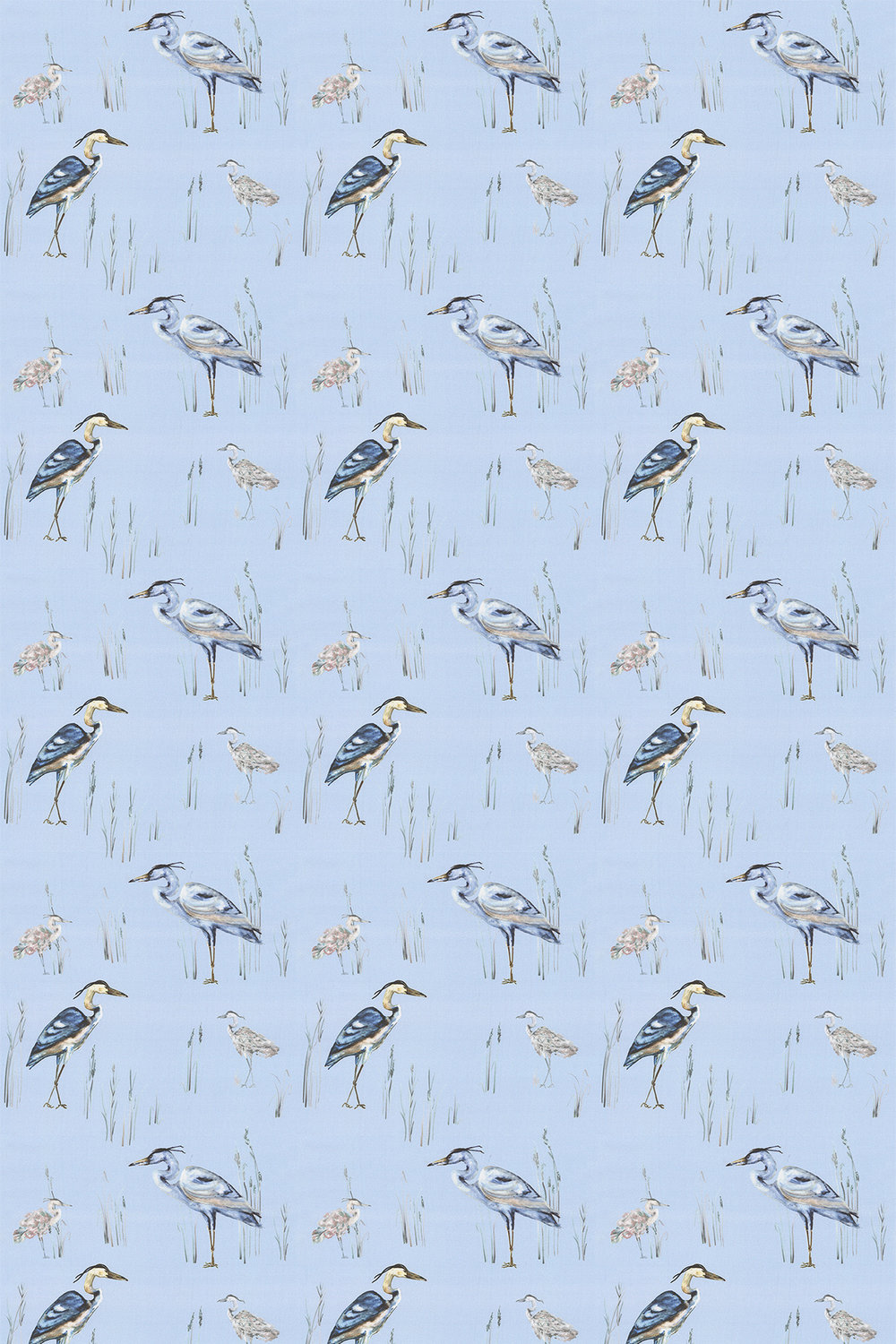 Herons Fabric - Riviera - by iliv