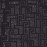 Versace Small Greek Key Charcoal Wallpaper