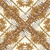 Versace Vasmara Motif  White / Gold Wallpaper