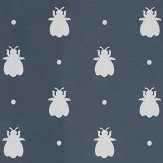 Farrow & Ball Bumble Bee Stiffkey Blue Wallpaper