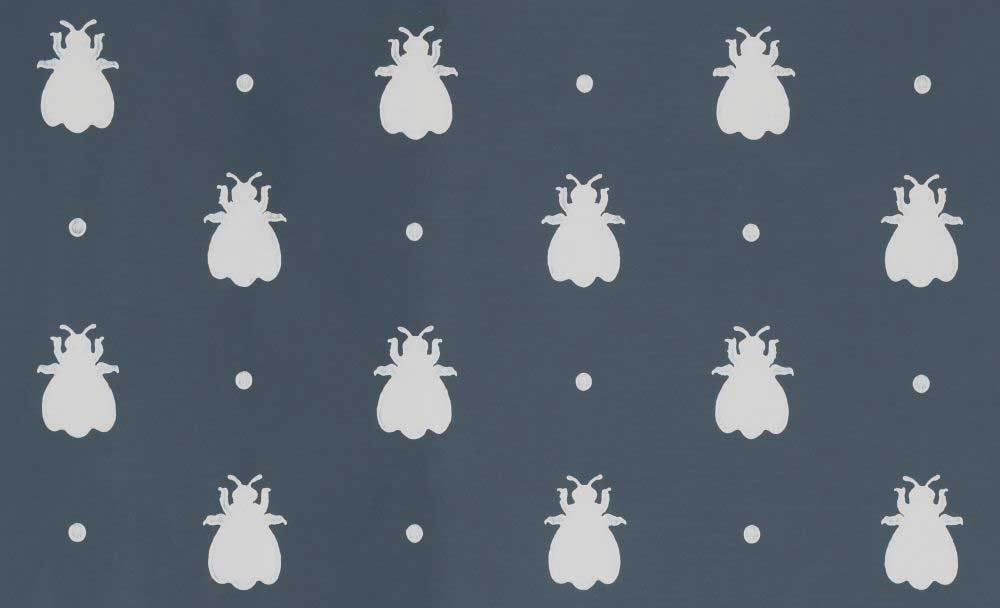 Farrow & Ball Bumble Bee Stiffkey Blue Wallpaper main image