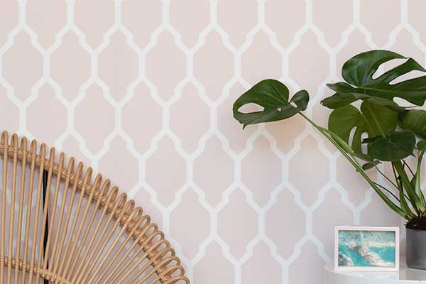Farrow & Ball Tessella Pink Wallpaper