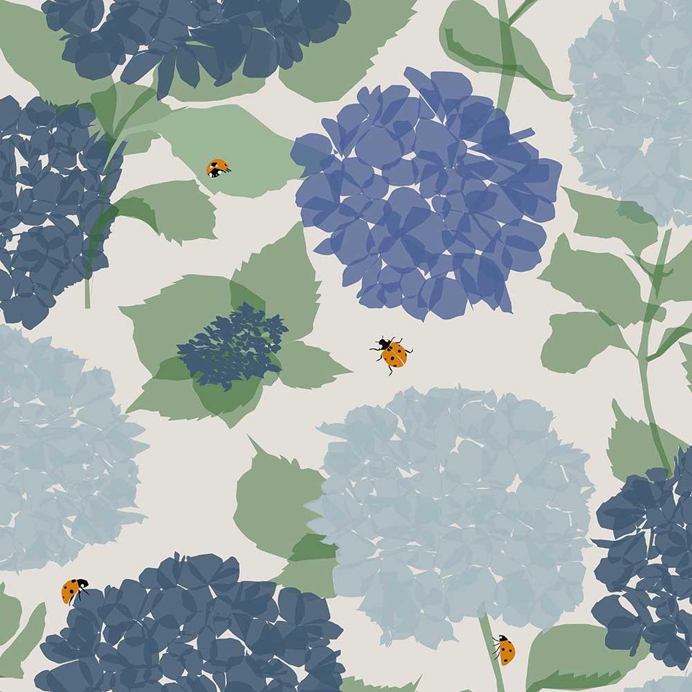Lorna Syson Hydrangea Blue Wallpaper - Product code: HYW