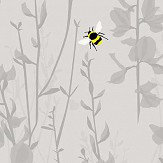 Lorna Syson Broom and Bee Dusk Wallpaper