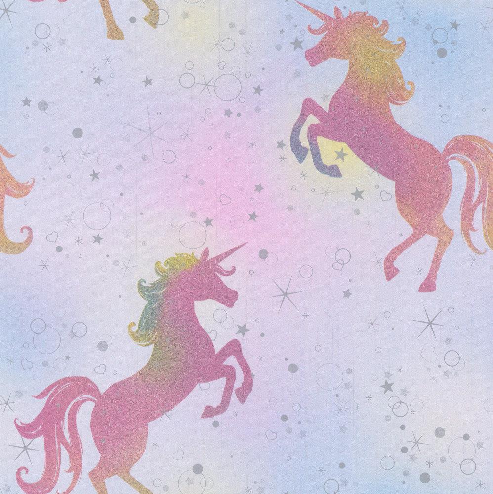 Albany Dancing Unicorn Rainbow Wallpaper - Product code: M1423