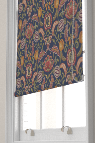 Appleby By Iliv Indigo Fabric Wallpaper Direct