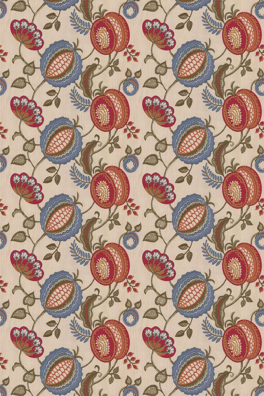 iliv Figs & Strawberries Indigo Fabric - Product code: ETAQ/FIGSTIND