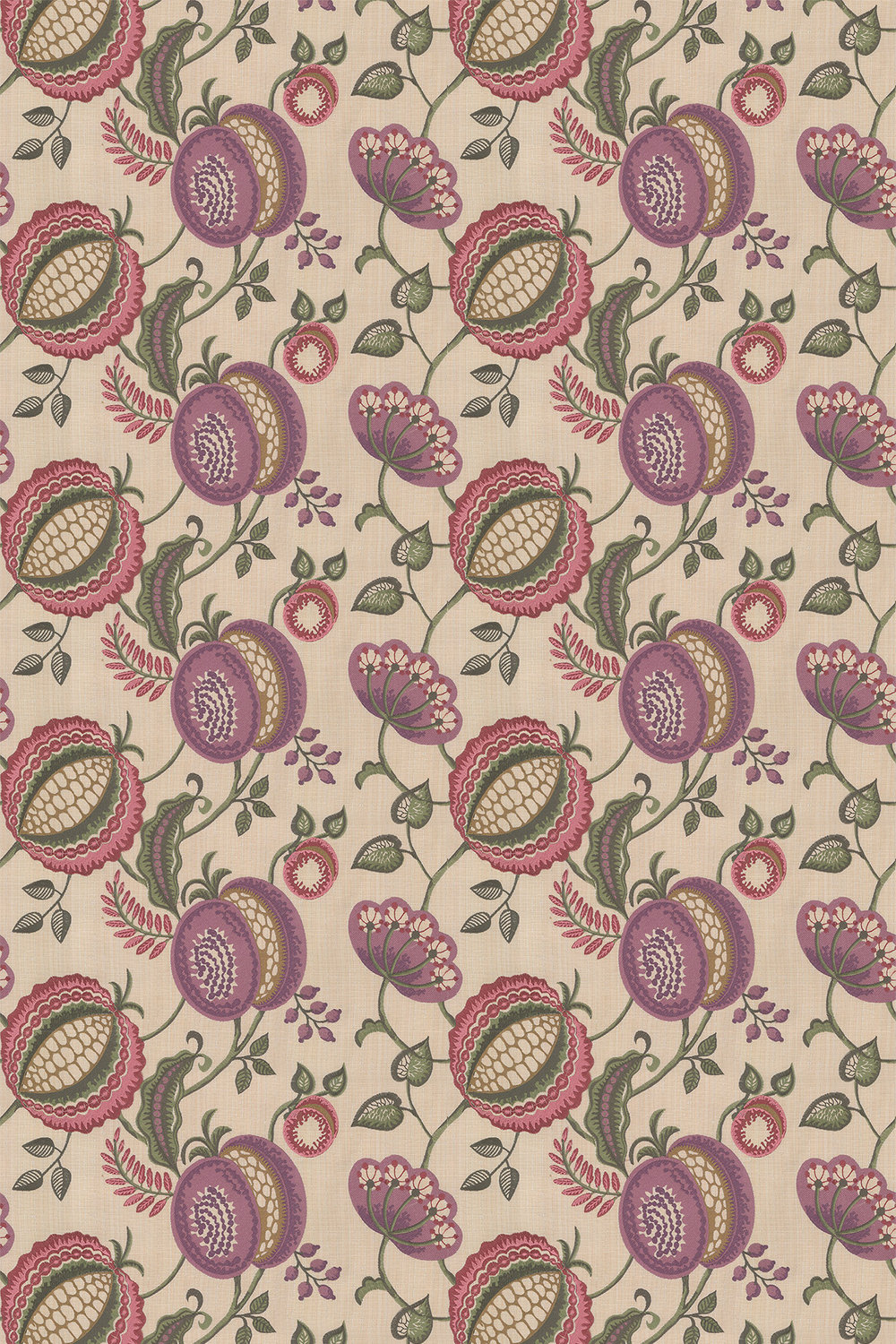 Figs & Strawberries Fabric - Thistle - by iliv
