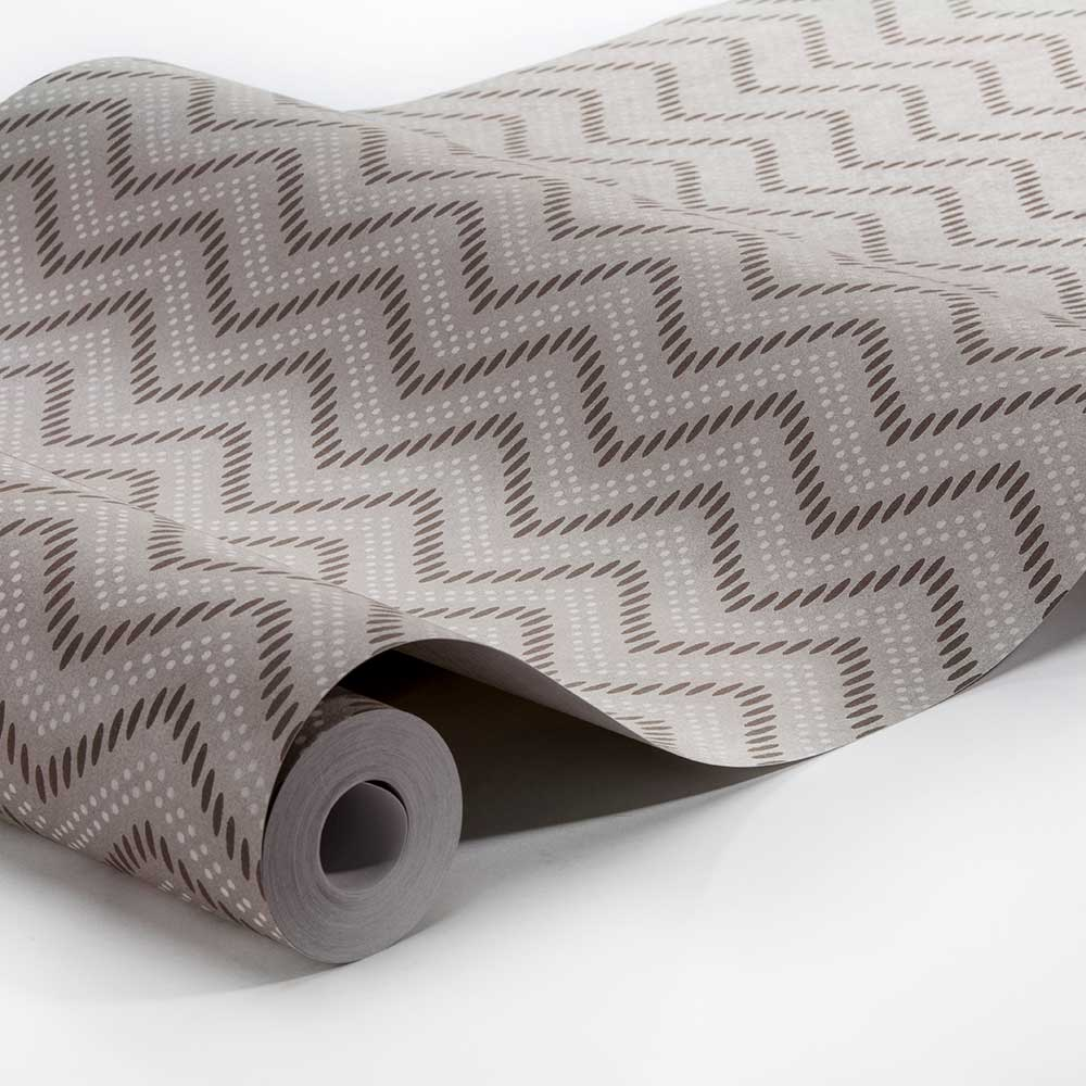Engblad & Co Chevron Dots Brown Wallpaper - Product code: 6484