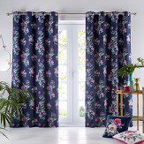 Oasis Luna Eyelet Curtains Midnight Ready Made Curtains