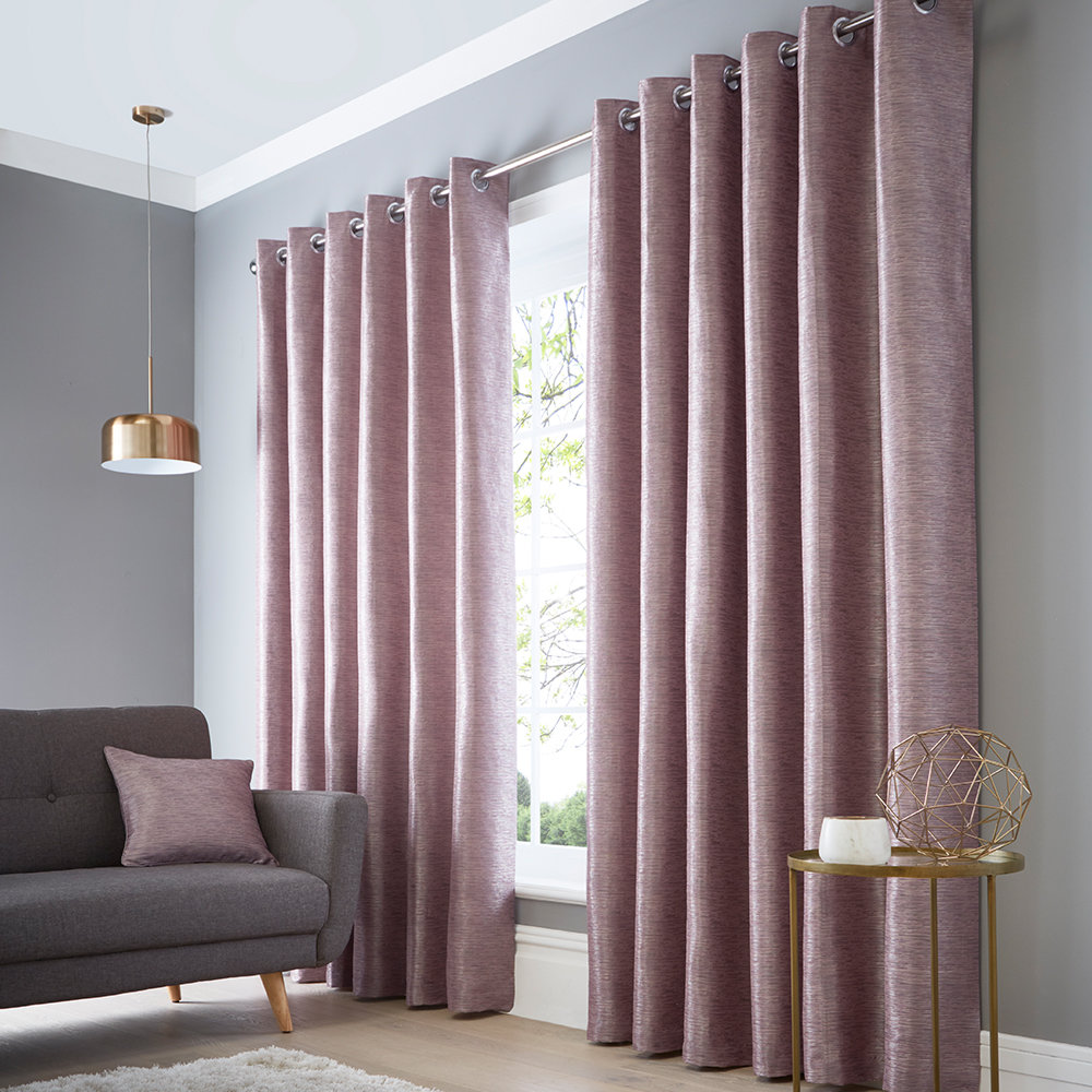 Studio G Catalonia Eyelet Curtains Heather Ready Made Curtains - Product code: DA40452180