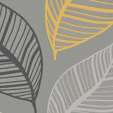 Albany Emporium Elba Yellow & Charcoal Wallpaper - Product code: M1461