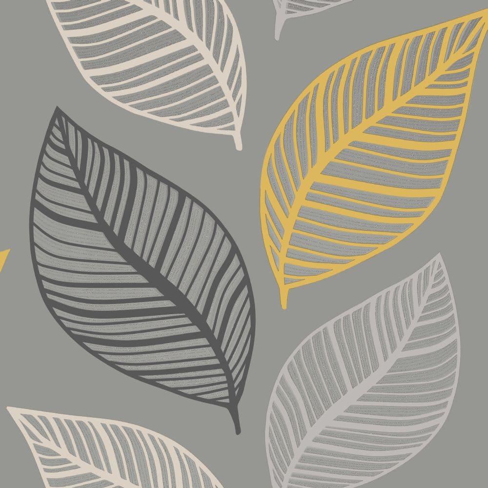 Albany Emporium Elba Yellow & Charcoal Wallpaper - Product code: M1461