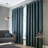 Studio G Catalonia Eyelet Curtains Ocean Ready Made Curtains - Product code: DA40452270