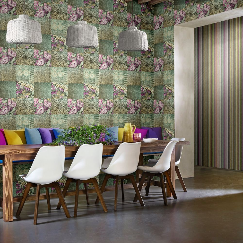 Coca Cola Majolica Phoenix Multi Wallpaper - Product code: 41243