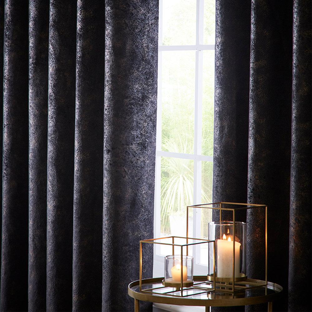Studio G Navarra Eyelet Curtains Ebony Ready Made Curtains - Product code: DA40452355
