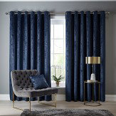 Studio G Navarra Eyelet Curtains Indigo Ready Made Curtains - Product code: DA40452400